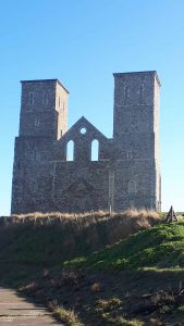 Reculver church towers