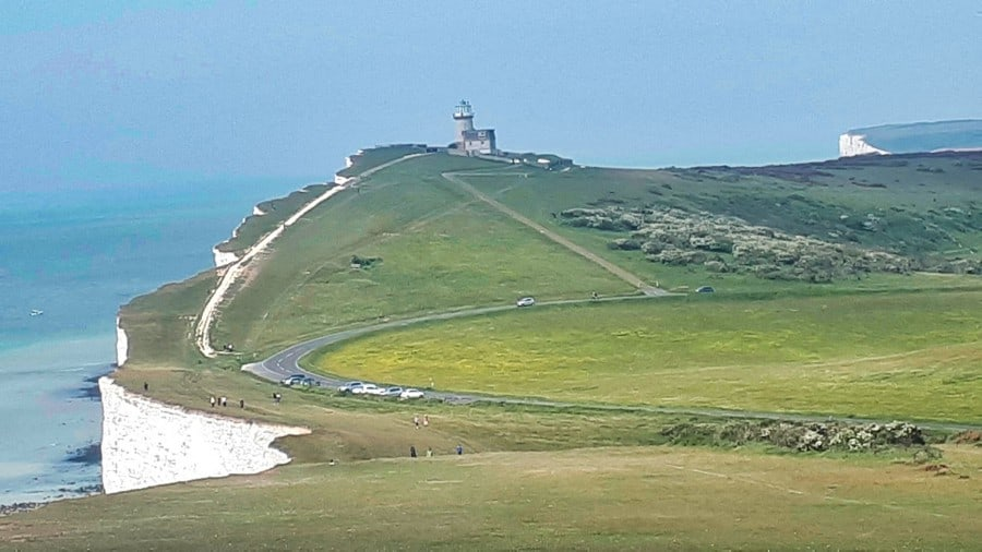 South Downs approaching Belle Tout lighthouse